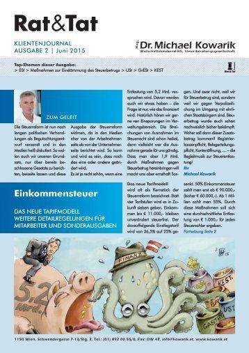 Rat & Tat - Klienten-Info / Ausgabe 2/2015