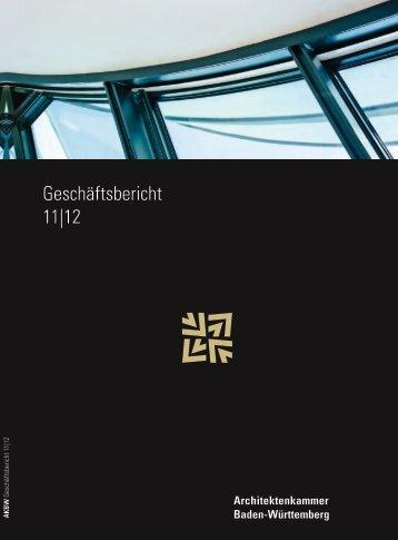 Fortbildungsplaner 22012 - Architektenkammer Baden-Württemberg