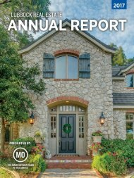 Lubbock Real Estate 2017 Annual Report