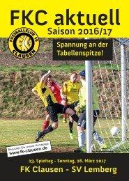 FKC Aktuell - 23. Spieltag - Saison 2016/2017
