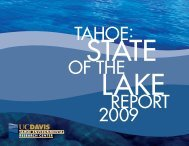State of the Lake 2009 - Tahoe Environmental Research Center ...