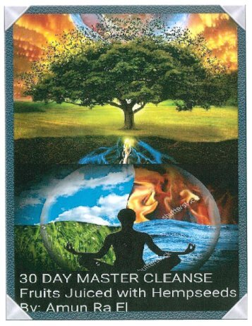 30 DAY MASTER CLEANSE TO HEAL DIABETES