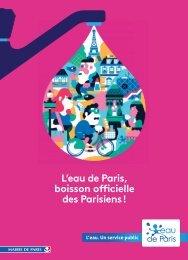 L'eau de Paris boisson officielle des Parisiens !