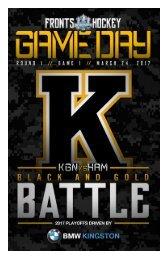 Kingston Frontenacs GameDay March 24, 2017