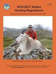 2016-2017 Alaska Hunting Regulations