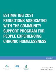 WITH THE COMMUNITY SUPPORT PROGRAM FOR PEOPLE EXPERIENCING CHRONIC HOMELESSNESS