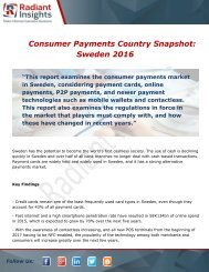 Consumer Payments Country Snapshot Sweden Market Size, Demand and Share report 2016