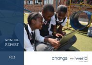 2015 Change the World Trust Annual Report