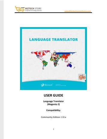 Language Translator Magento 2 Extension