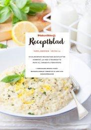 Makuviikko Receptblad vecka 13 FAMILJ PE