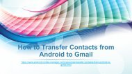 How to Transfer Contacts from Android to Gmail