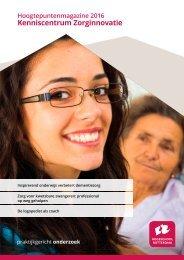 Hoogtepuntenmagazine Kenniscentrum Zorginnovatie (digitaal)