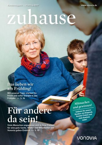 "Vonovia Kundenmagazin ""zuhause"" Frühjahr 2017"