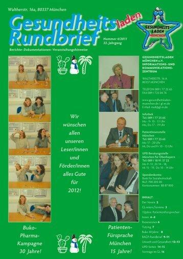 Rundbrief - Gesundheitsladen München