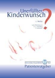Unerfüllter Kinderwunsch? - Kinderwunschzentrum der Uni Kiel