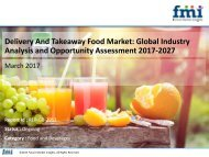 Delivery And Takeaway Food Market Revenue, Opportunity, Segment and Key Trends 2017-2027