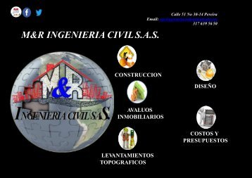 PORTAFOLIO DE SERVICIOS M&R INGENIERIA CIVIL