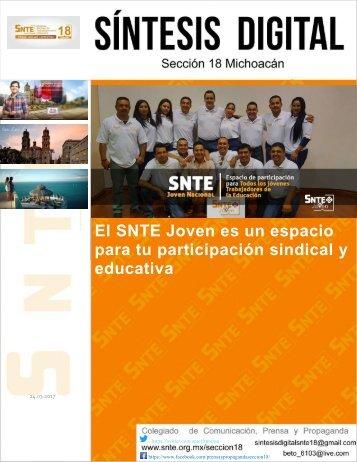 El SNTE Joven es un espacio para tu participación sindical y educativa