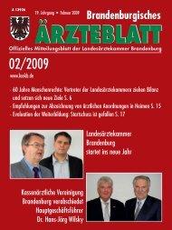 Ausgabe 02/2009 - Landesärztekammer Brandenburg