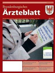 Ausgabe 04/2010 - Landesärztekammer Brandenburg