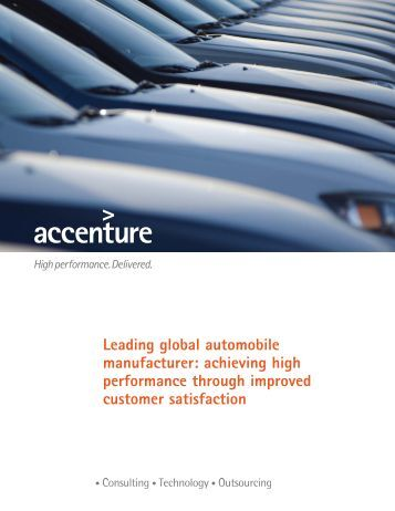 Leading global automobile manufacturer: achieving high ...