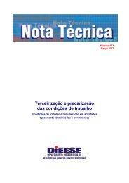 Terceirização e precarização das condições de trabalho