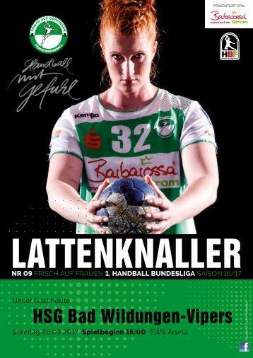 Lattenknaller 09 - 26.03.2017 - SAISON 2016/17 - FRISCH AUF Frauen