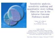 quantitative story telling Hints for use in the Adverse Outcome Pathways model