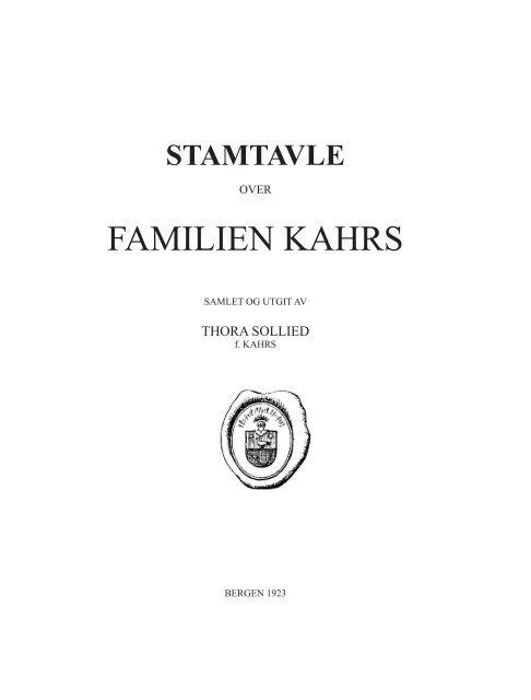 Familien Kahrs