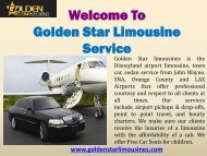 Limo service in Orange county|Golden Star Limousines
