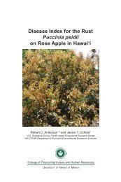 Disease Index for the Rust Puccinia psidii on Rose Apple in ... - ctahr