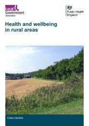 Health and wellbeing in rural areas