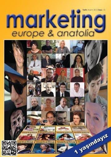 marketing europe & anatolia Sayı: 013