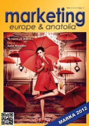 marketing europe & anatolia Sayı: 014