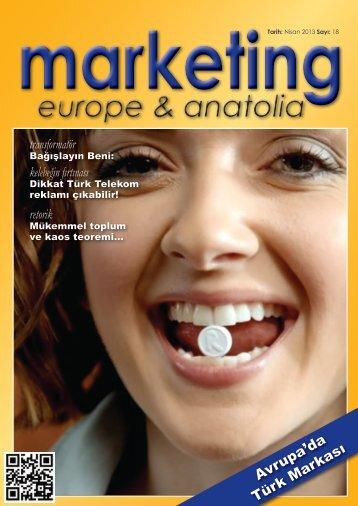 marketing europe & anatolia Sayı: 018
