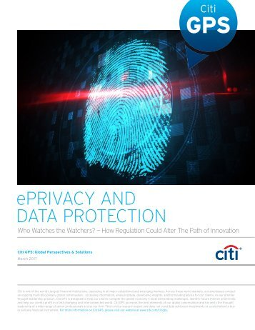 ePRIVACY AND DATA PROTECTION
