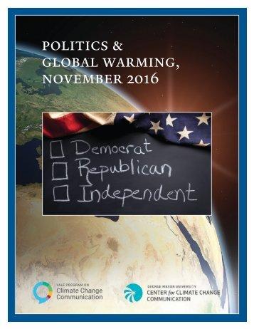 politics & global warming november 2016