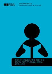 THE ENERGISE AND TEENS & TODDLERS PROGRAMMES 2012–2015