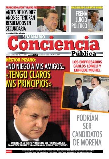 «TENGO CLAROs MIS PRINCIPIOS»