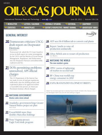 Oil and Gas Journal - June 20, 2011