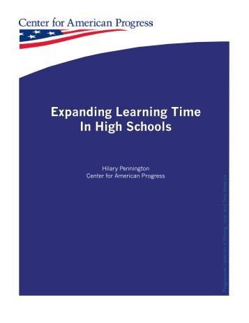 Expanding Learning Time In High Schools - Center for American ...