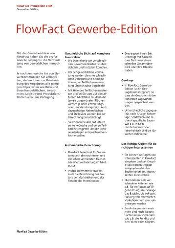 Broschüre Performer Gewerbe-Edition - FlowFact AG