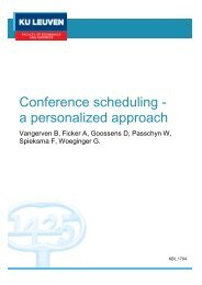 Conference scheduling - a personalized approach