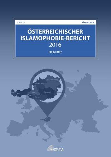 ÖSTERREICHISCHER ISLAMOPHOBIE-BERICHT 2016