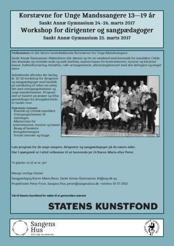 Tak til Statens Kunstfond for støtte til at gennemføre stævnet