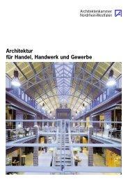 Broschüre -Architektur für Handel, Handwerk und Gewerbe