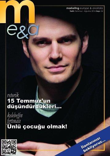 marketing europe & anatolia Sayı: 054