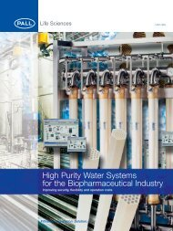 High Purity Water Systems for the Biopharmaceutical Industry