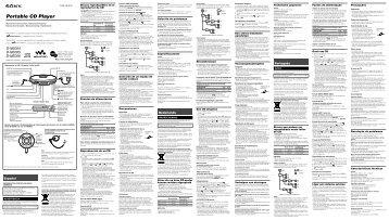 Sony D-NE004 - D-NE004 Consignes d'utilisation Portugais