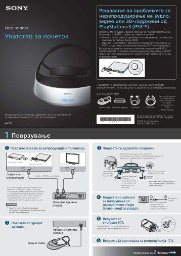Sony HMZ-T2 - HMZ-T2 Guida di configurazione rapid Macedone